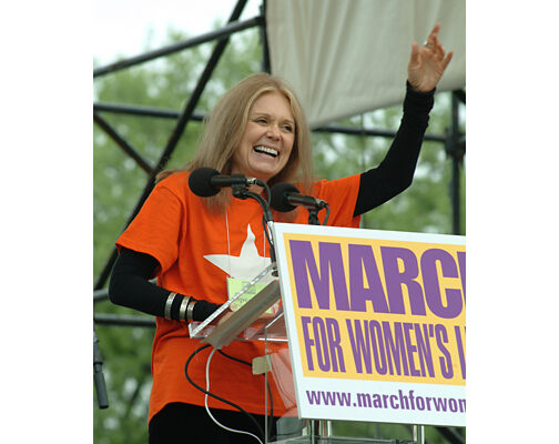Activist Gloria Steinem take for Ms. Magazine