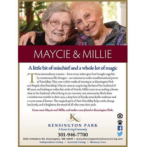 Kensington Park Senior Living Ad